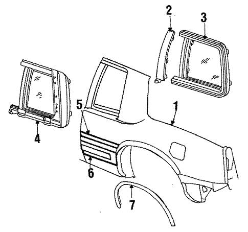 Oem 1990 Cadillac Eldorado Quarter Panel Parts