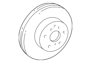 Brake Rotor | Front | 2004-2006 Scion xA | 2004-2006 Scion xB - Toyota (43512-52080)