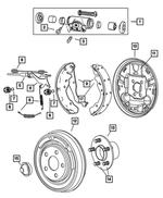 Jeep Grande Cherokee Rear Parking Brake Shoes Part Number 05011988AB