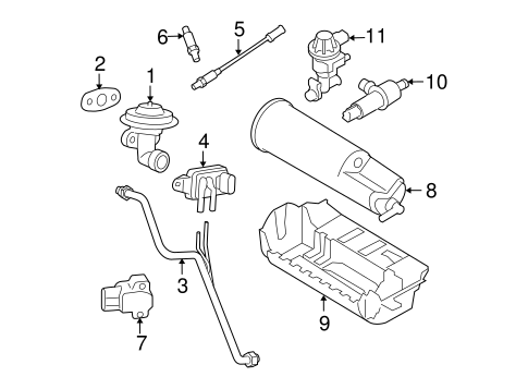 Emission System/Emission Components for 2008 Ford Ranger #1
