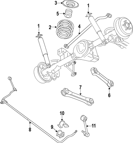 2009 Jeep Wrangler Suspension: Rear Suspension For 2009 Jeep Wrangler