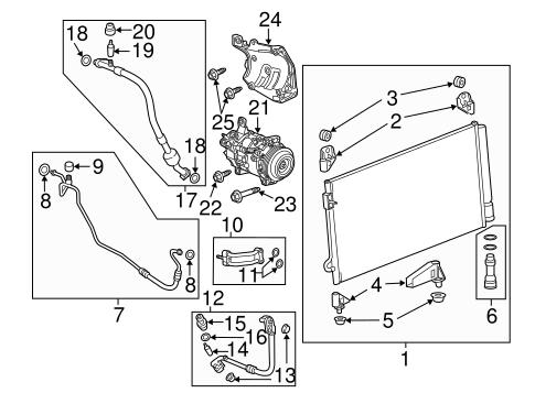 Oem 2015 Chevrolet Silverado 2500 Hd Condenser Compressor Lines