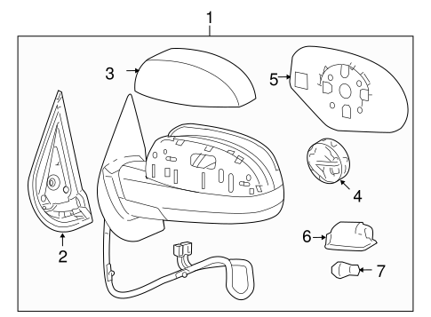 Gm Mirror Assembly 20843106