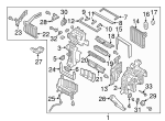 AC & Heater Assembly - Hyundai (97205-B8210)