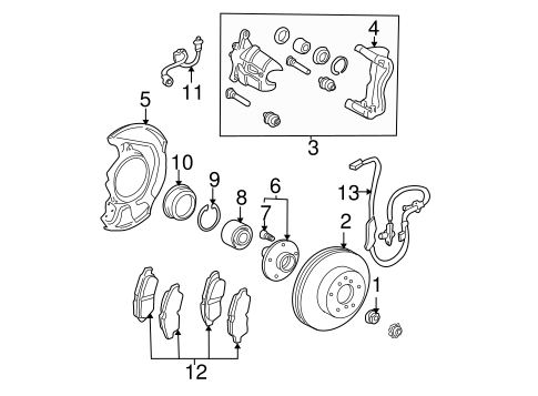 BRAKES/BRAKE COMPONENTS for 2005 Toyota Sienna #3