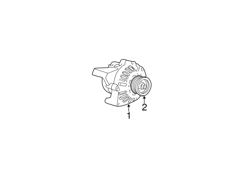 Alternator for 2004 Oldsmobile Bravada #0