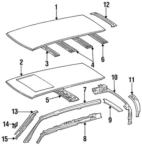 Roof & Components for 1994 Mercedes-Benz E 320 #2