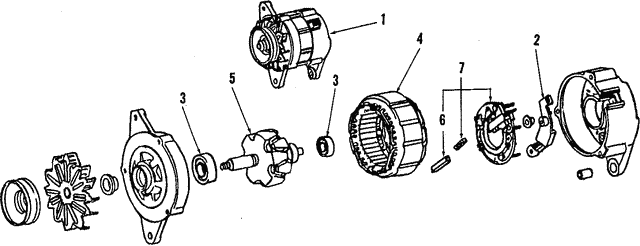 Alternator - Toyota (27020-16130-84)