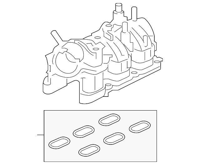 Genuine Ford Intake Manifold Ft4z 9424 E