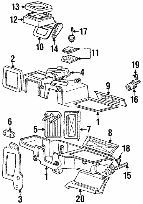 Evaporator Heater Components For 1998 Mercury Mountaineer