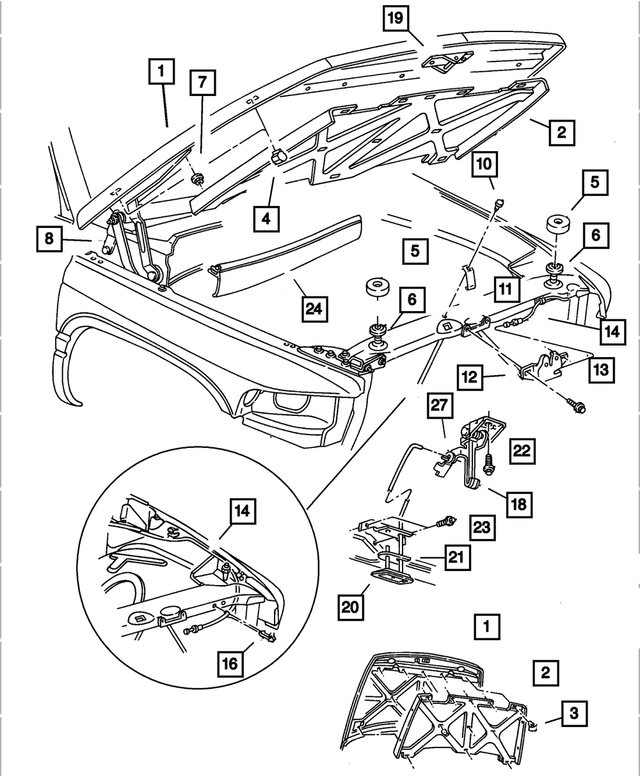 Hood Latch - Mopar (55275379AB)