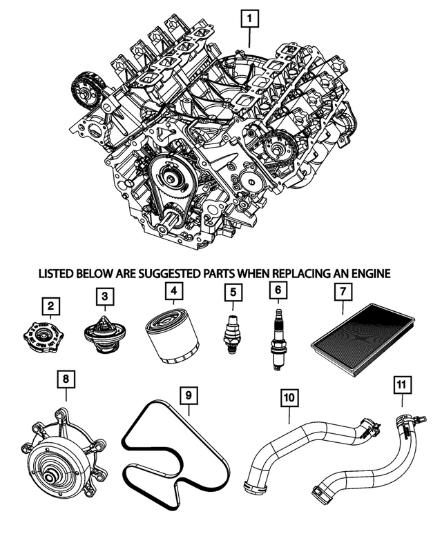 Water Pump - Mopar (68045-797AA)