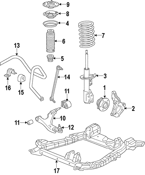 2012 silverado suspension diagram