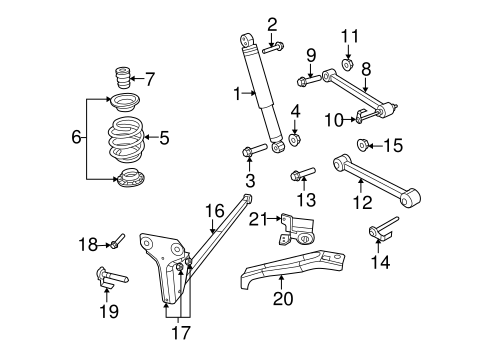rear suspension/rear suspension for 2007 dodge nitro #3