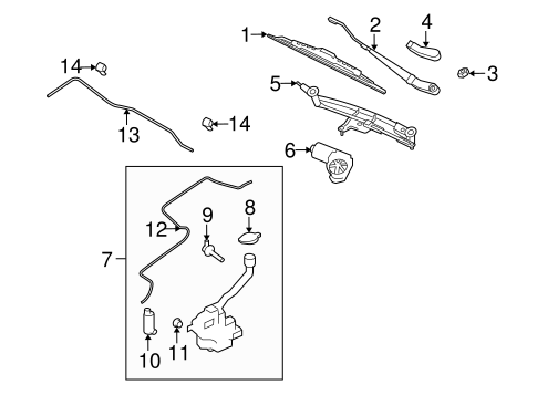 Body/Wiper & Washer Components for 2008 Ford Taurus #1