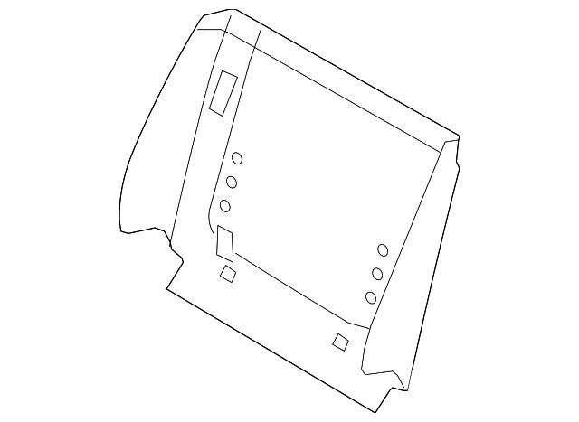 seat back panel