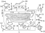 Headlamp Assembly - Audi (4N0-941-784-B)