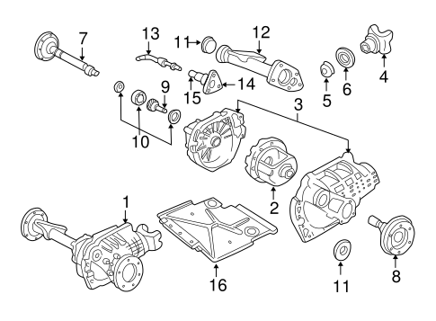oem 2002 chevrolet blazer carrier front axles parts GM Front Differential Parts Diagram front suspension carrier front axles for 2002 chevrolet blazer 1