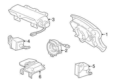 Air Bag Components For 1999 Lexus Lx470