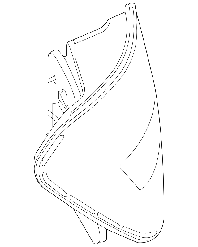 Genuine Mercedes Benz Tail Lamp Assembly 204 906 06 03