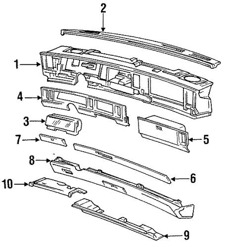 1993 Buick Park Avenue Suspension: Cluster Cover - GM (25601556)