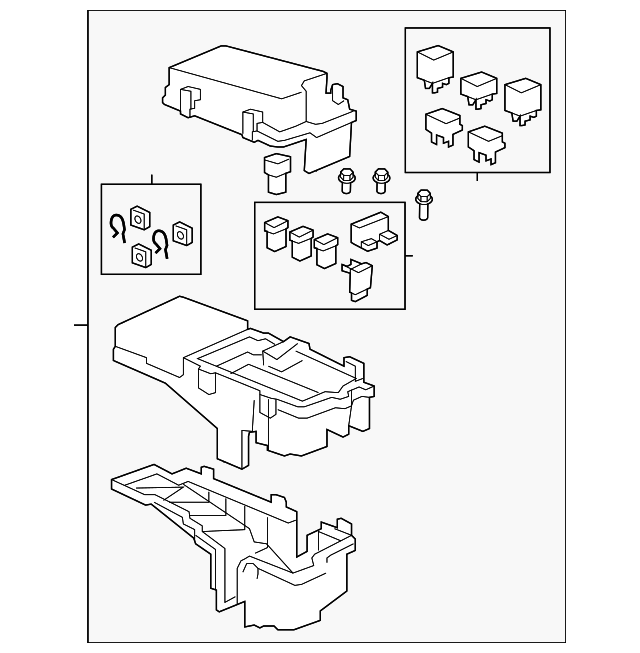 Box Assembly Relay Honda 38250sjca13: Honda Ridgeline 2011 Fuse Box Diagram At Daniellemon.com