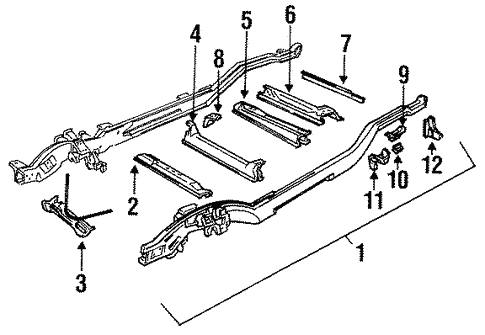 Frame Components For 1996 Chevrolet Tahoe