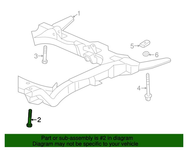 Engine Cradle Bolt: GM Engine Parts Diagram 2001 Oldsmobile Intrigue At Satuska.co