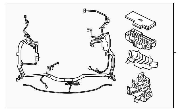 Ford F-250/350/450/550 Super Duty Engine Wiring Harness on ford generator wiring diagram, ford wiring color codes, ford truck wiring diagrams,
