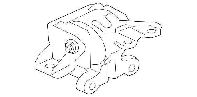 Genuine Oem Trans Mount Part Mn184343 Fits 2008 2015 Mitsubishi