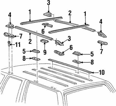 Luggage Carrier for 2000 GMC Yukon #0