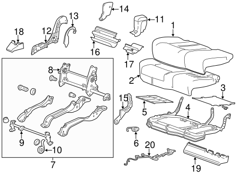 Rear Seat Components For 2014 Cadillac Srx