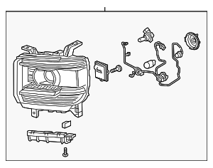 Headlamp Assembly - GM (84180592)
