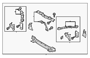 Radiator Support - Subaru (53029CA0019P)