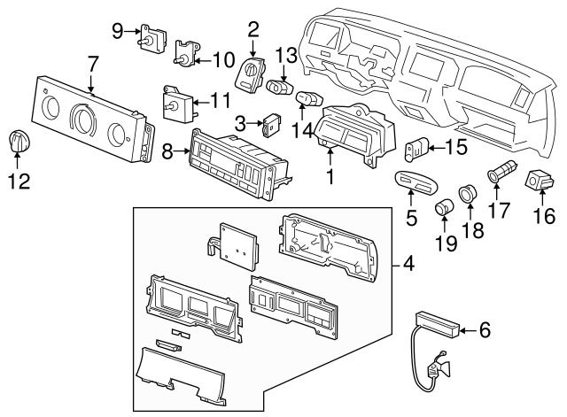 FORD INDICATOR ASM F8AZ7A110AA