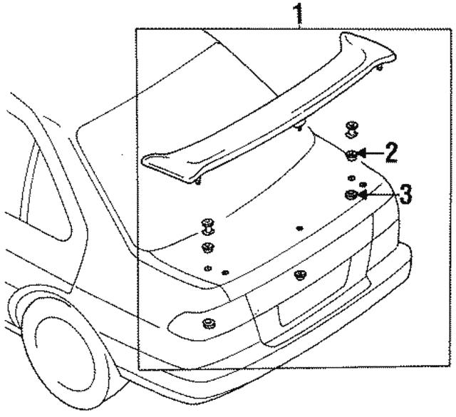 1995 2019 Nissan Door Shell Plug 01658 02121