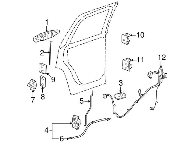GM OEM Rear Door-Handle Outside Exterior Right 84053454