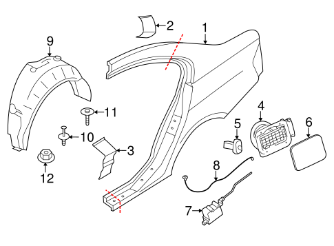 Quarter Panel Components For 2015 Bmw M3