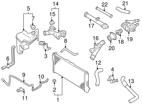 Radiator For 2000-01 Mazda 626 2.0L 1 Row