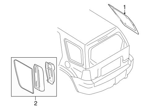 Glass Hardware For 2010 Mercury Mariner