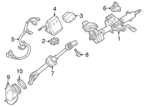 STEERING/STEERING COLUMN ASSEMBLY for 2014 Toyota Avalon #1