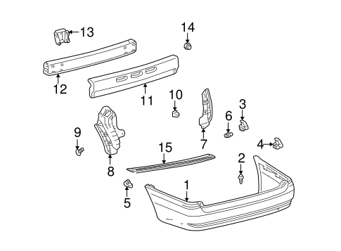 BODY/BUMPER & COMPONENTS - REAR for 1998 Toyota Sienna #1