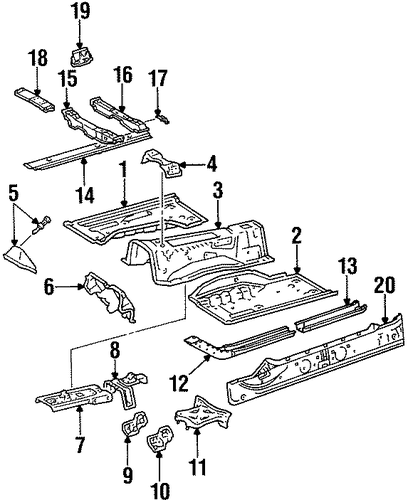 BODY/FLOOR & RAILS for 1996 Toyota Supra #1