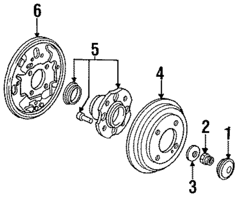 Bearing Assembly, Rear Hub Unit (Koyo Seiko)