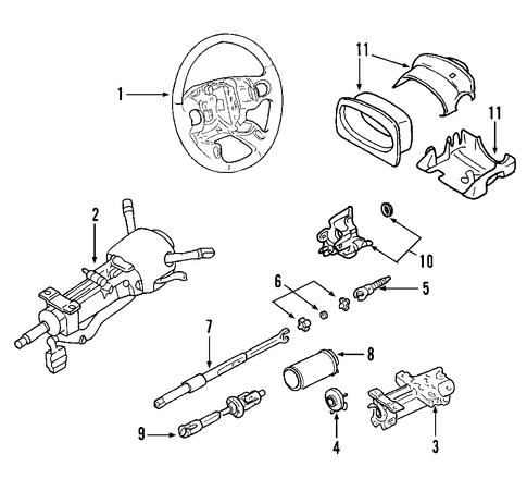 Gm Steering Wheel 15860106