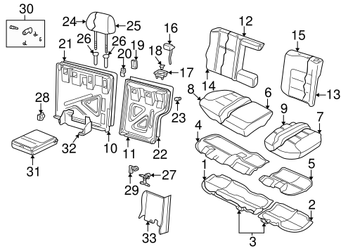 Rear Seat Components for 2000 Volkswagen Golf #0