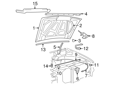 Body/Hood & Components for 2005 Ford Ranger #1