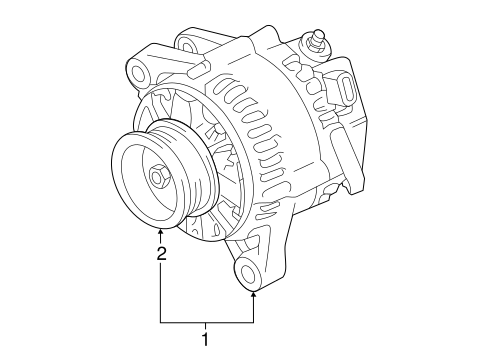 ELECTRICAL/ALTERNATOR for 2016 Toyota Tacoma #1
