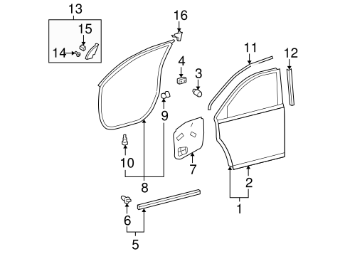 BODY/DOOR & COMPONENTS for 2010 Toyota Highlander #1