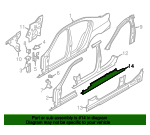 Rocker Reinforced - BMW (41-21-7-240-497)